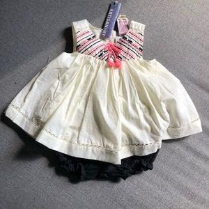 Artisan NY 12mo White Top w/ Black Shorts